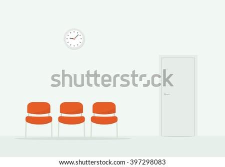 waiting room - stock vector