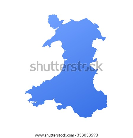Wales country map,border - stock vector