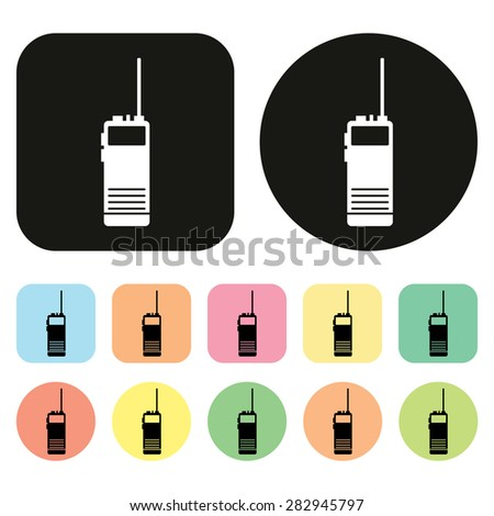 Walkie talkie icon. Communication icon. Vector - stock vector