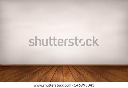 Wall and a wooden floor. Vector. - stock vector