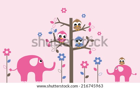 wall decoration or greeting card  - stock vector