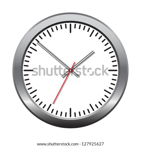 Wall mechanical clock. Vector illustration - stock vector