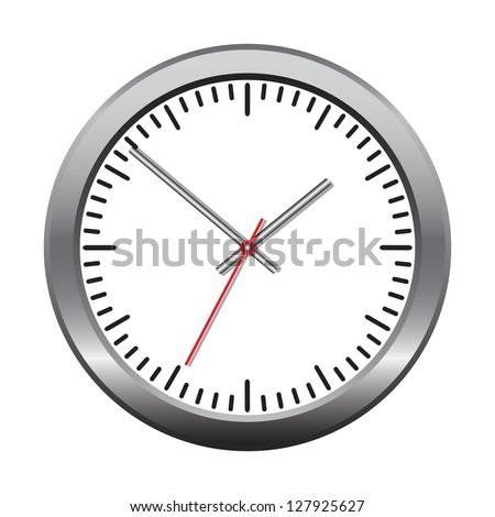 Wall mechanical clock. Vector illustration - stock vector