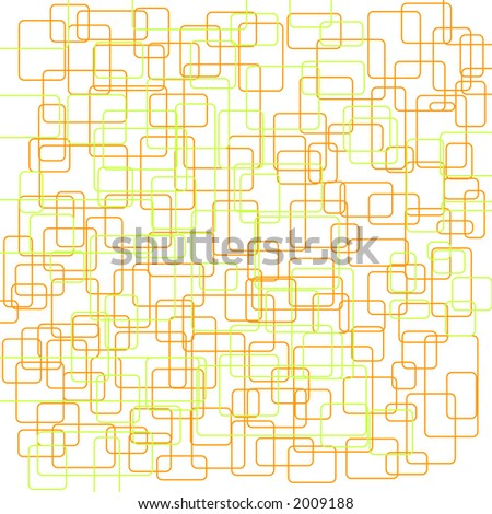 wall paper pattern like a groovy 70's design - stock vector