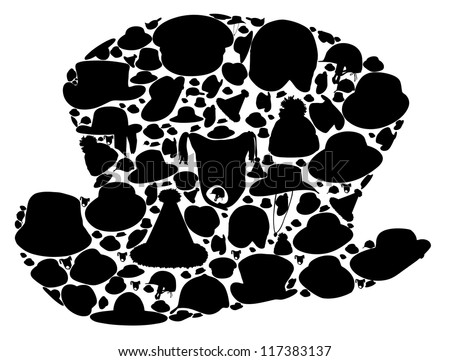 Wallets collection silhouette vector illustration. EPS 10 . - stock vector