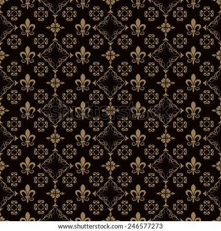 wallpaper black color, old style, template, vector image for your design of cards, invitations, website, paper packaging, book covers, wall. - stock vector