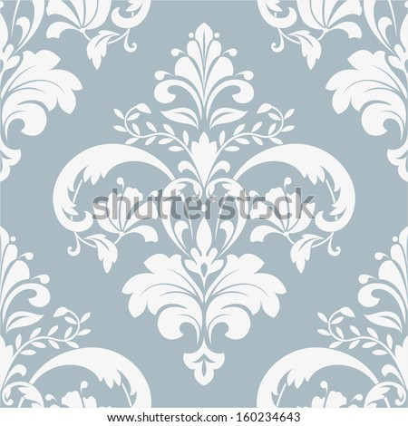 Wallpaper in the style of Baroque. A seamless vector background. Damask floral pattern. - stock vector