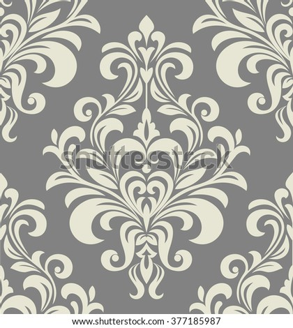 Wallpaper in the style of Baroque. A seamless vector background. Floral ornament. - stock vector