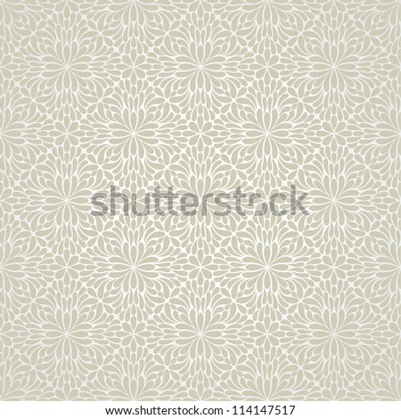 Wallpaper pattern,white.  Vector background.Seamless - stock vector
