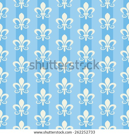 Wallpaper vintage style. Damask pattern for design. Background color images. Blue. Texture wallpapers for wall, backgrounds and page fill. Seamless pattern. Vector Illustration. - stock vector