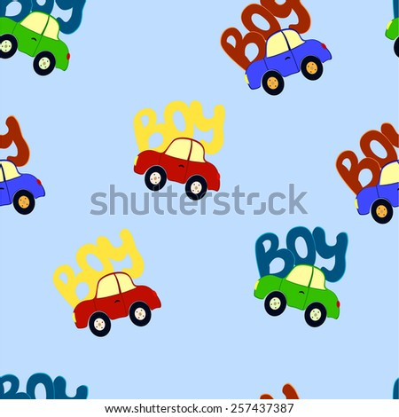 wallpaper with cars - stock vector