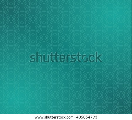 wallpaper with islamic pattern - stock vector