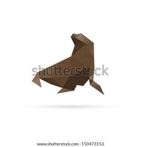 Walrus abstract isolated on a white backgrounds - stock vector