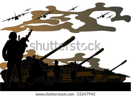 war - stock vector