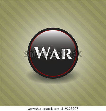 War dark emblem - stock vector
