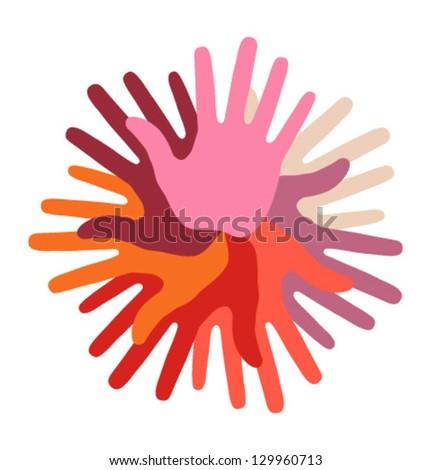 Warm Hand Print icon, vector illustration - stock vector