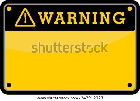 WARNING - stock vector