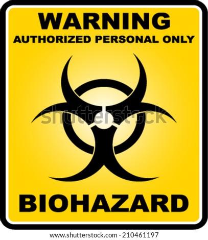 Warning, Biohazard, icon vector  - stock vector