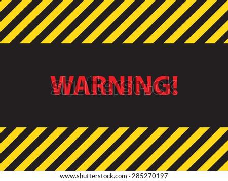 warning dangerous sign, illustration vector - stock vector