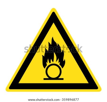 Warning Oxidizing substance sign (eps 10) - stock vector