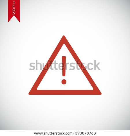 warning road sign icon - stock vector
