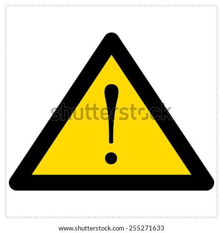 warning sign, exclamation mark vector - stock vector