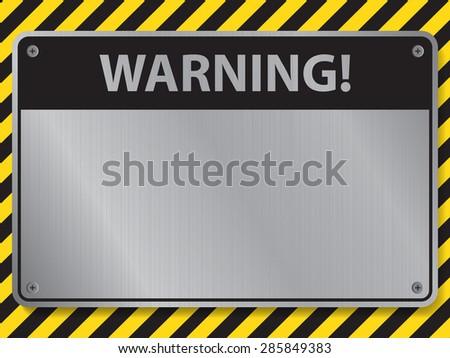 warning sign, illustration vector - stock vector