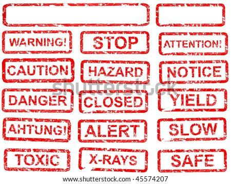 warning signs - stock vector
