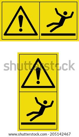 warning slippery floor - stock vector