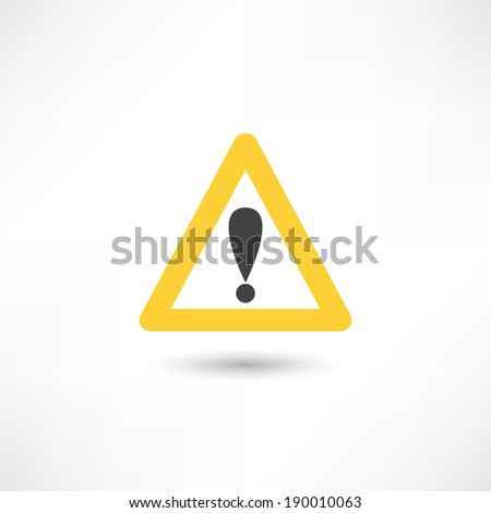 warning triangle icon - stock vector