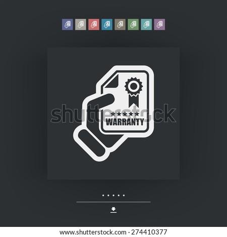 Warranty icon - stock vector
