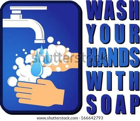 wash your hands - stock vector