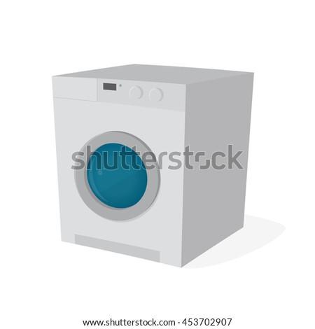 washing machine clipart - stock vector