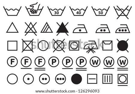 Washing signs - stock vector