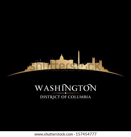 Washington DC city skyline silhouette. Vector illustration - stock vector