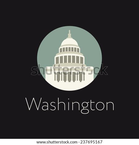 Washington icon - stock vector