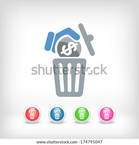Waste of money - stock vector