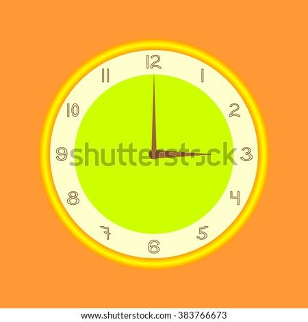 watch dial - stock vector