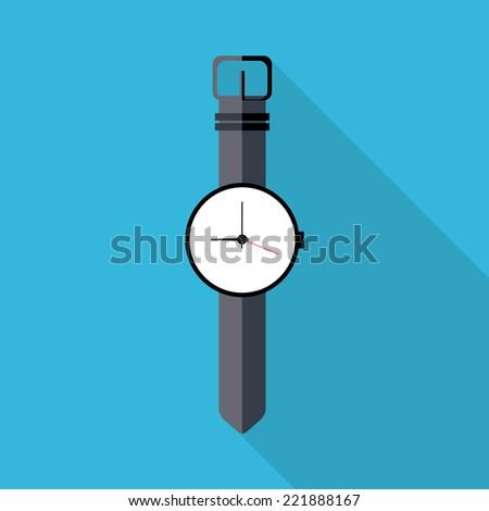 Watch icon. Flat design vector. - stock vector