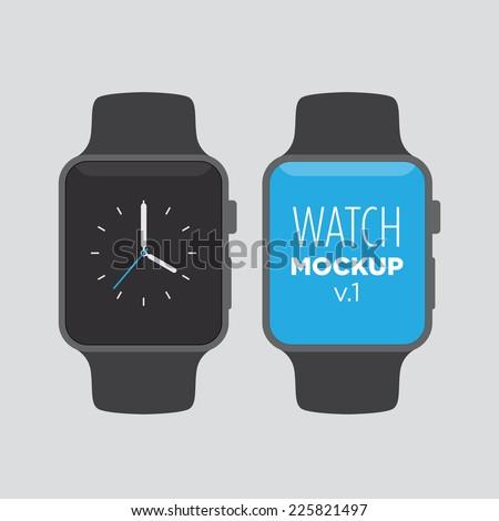 watch mock up v1 - stock vector