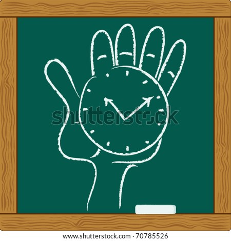 watch on the palm is symbol business accuracy - stock vector