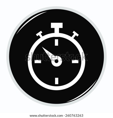 watch stopwatch icon - stock vector