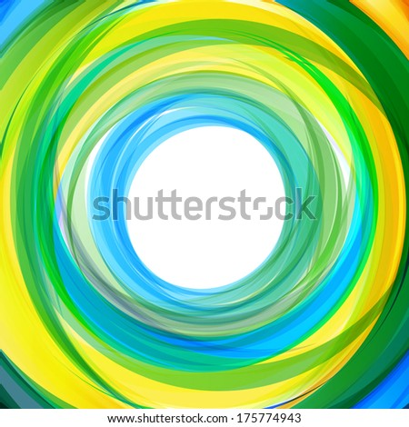 water and nature, natural concept abstract circle lines background - stock vector
