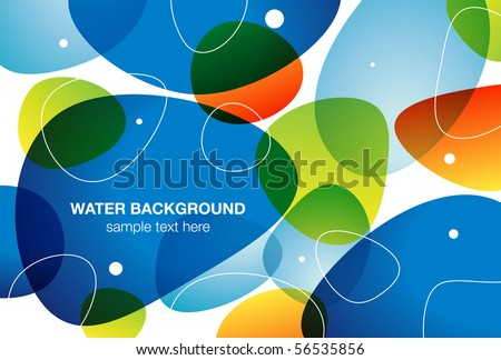 Water background, vector illustration - stock vector