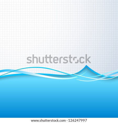 Water background. Vector illustration, eps 10, contains transparencies. - stock vector