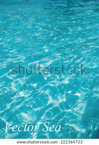 Water background with eps10 vector - stock vector