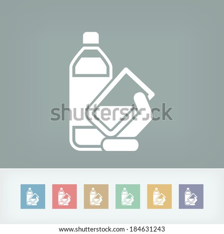 Water bottle icon - stock vector