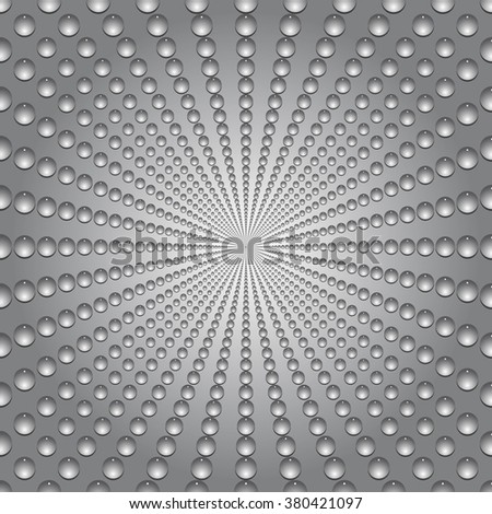 Water bubbles. Water drops on glass. Gray Light Abstract  Seamless  background geometrical ornament pattern with water drops.  Vector illustration. - stock vector