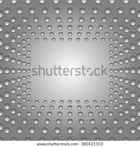 Water bubbles. Water drops on glass. Gray Light Abstract  Seamless  background geometrical ornament pattern with water drops. For greeting card, presentation, card, flyer.  Vector illustration. - stock vector