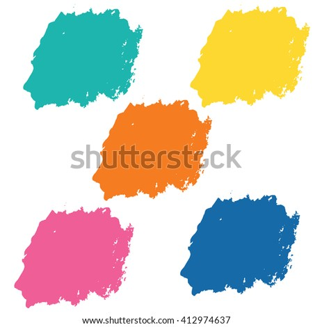 Water color 5 color palette set  for use in background or backdrop for use in many work such as sale banner or element abstract vector grunge.brush - stock vector